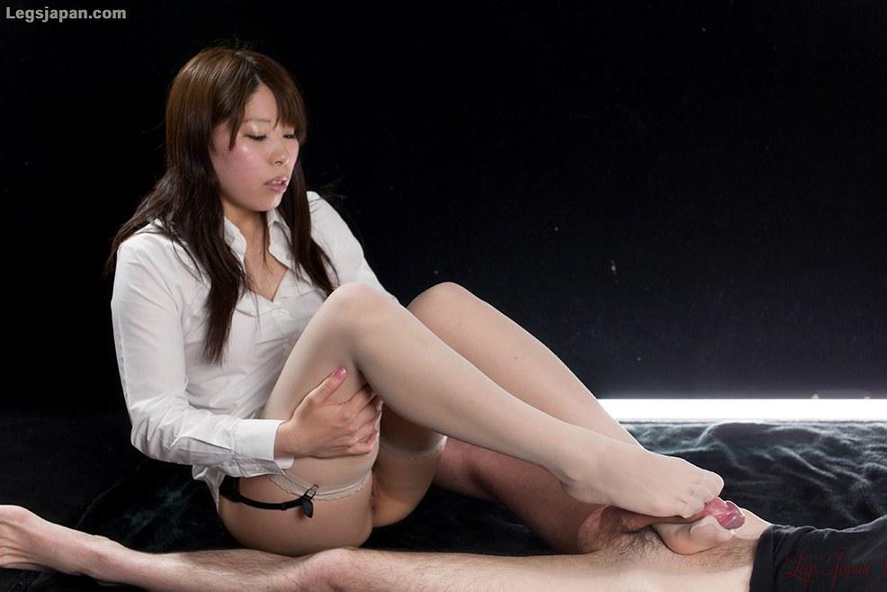 asian stockings footjob